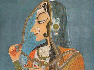 peinture indienne représentant une femme