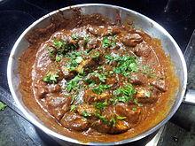 plat non végétarien indien